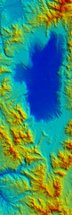 Digital Elevation Model Satellite Tahoe Map