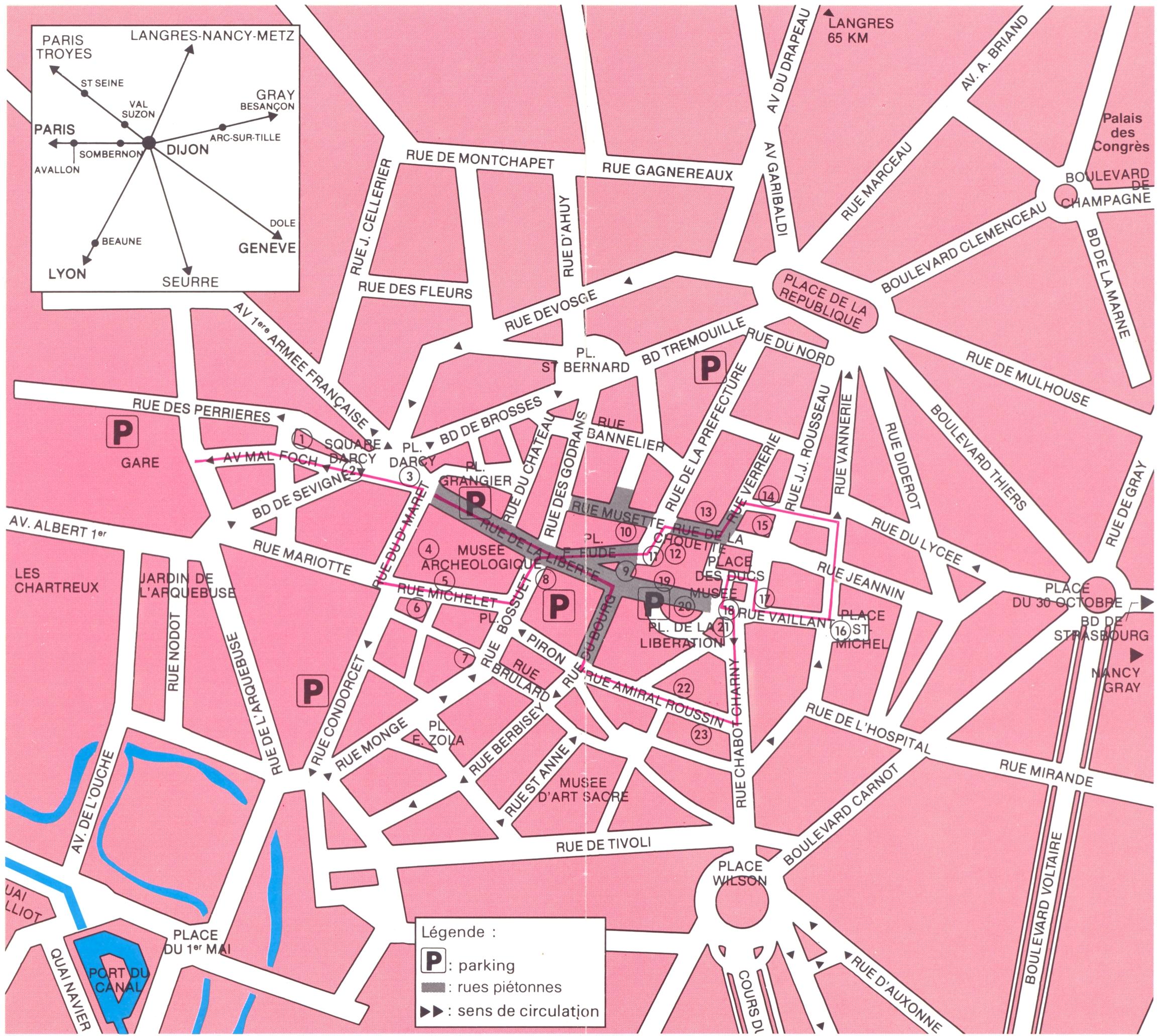 Dijon centre Map Dijon FR mappery