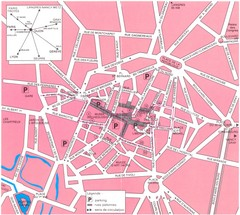 Dijon centre Map