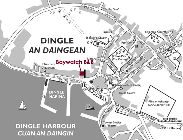 Dingle Town Map