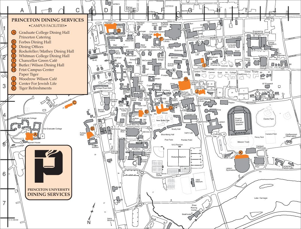 Dining Services at Princeton University Map - Princeton ...