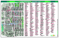 Dining in Downtown San Jose, California Map