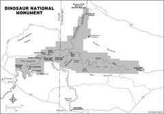 Dinosaur National Monument Map