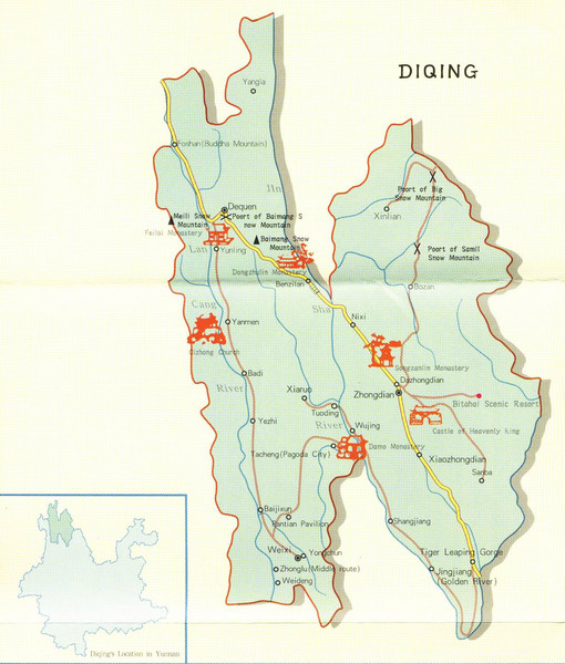 Diqing Tourist Map