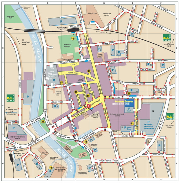 Disabled Accessible Places in Maidstone, Kent Map