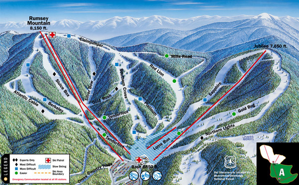 Discovery Basin Ski Area A Ski Trail Map