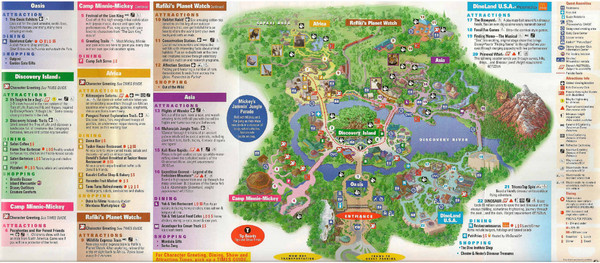 Discovery Island in Disney World Guide Map