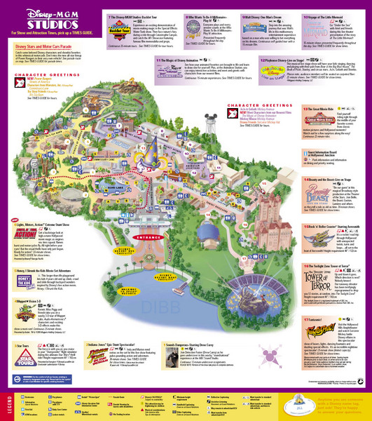 Walt Disney World and Epcot Boardwalk Map - Disney World • mappery