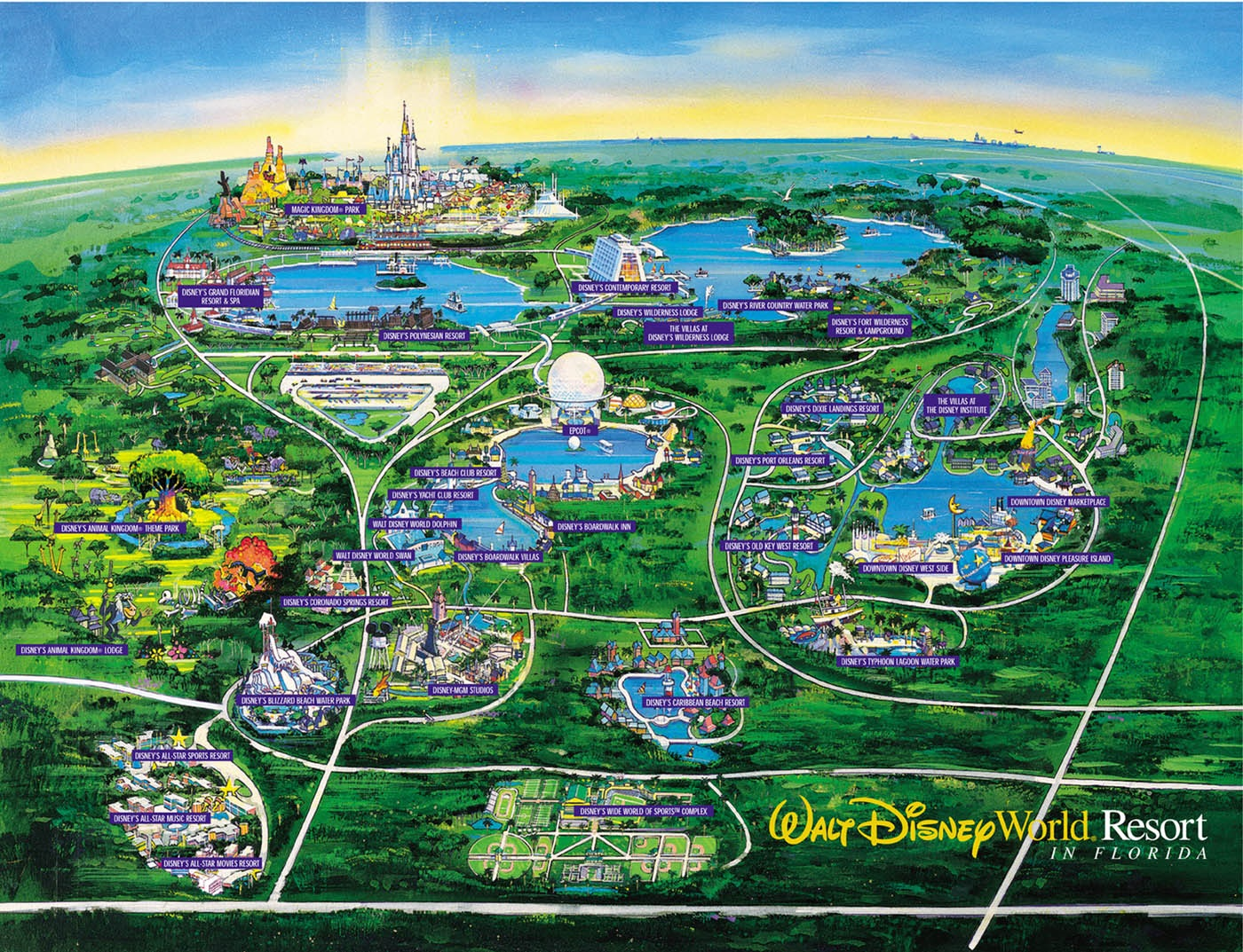 Disney World Map   orlando • mappery