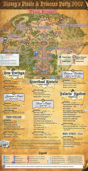 Disney World's Magic Kingdom Guide Map