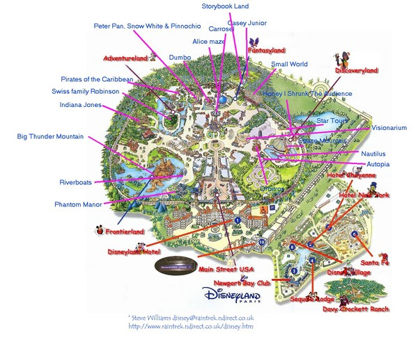Disneyland paris guide map