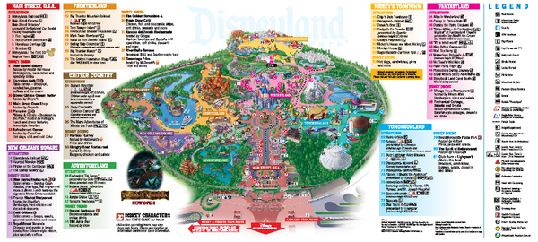 Disneyland Theme Park Map 1313 S Harbor Blvd Anaheim Ca Mappery