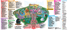 Disneyland Theme Park map