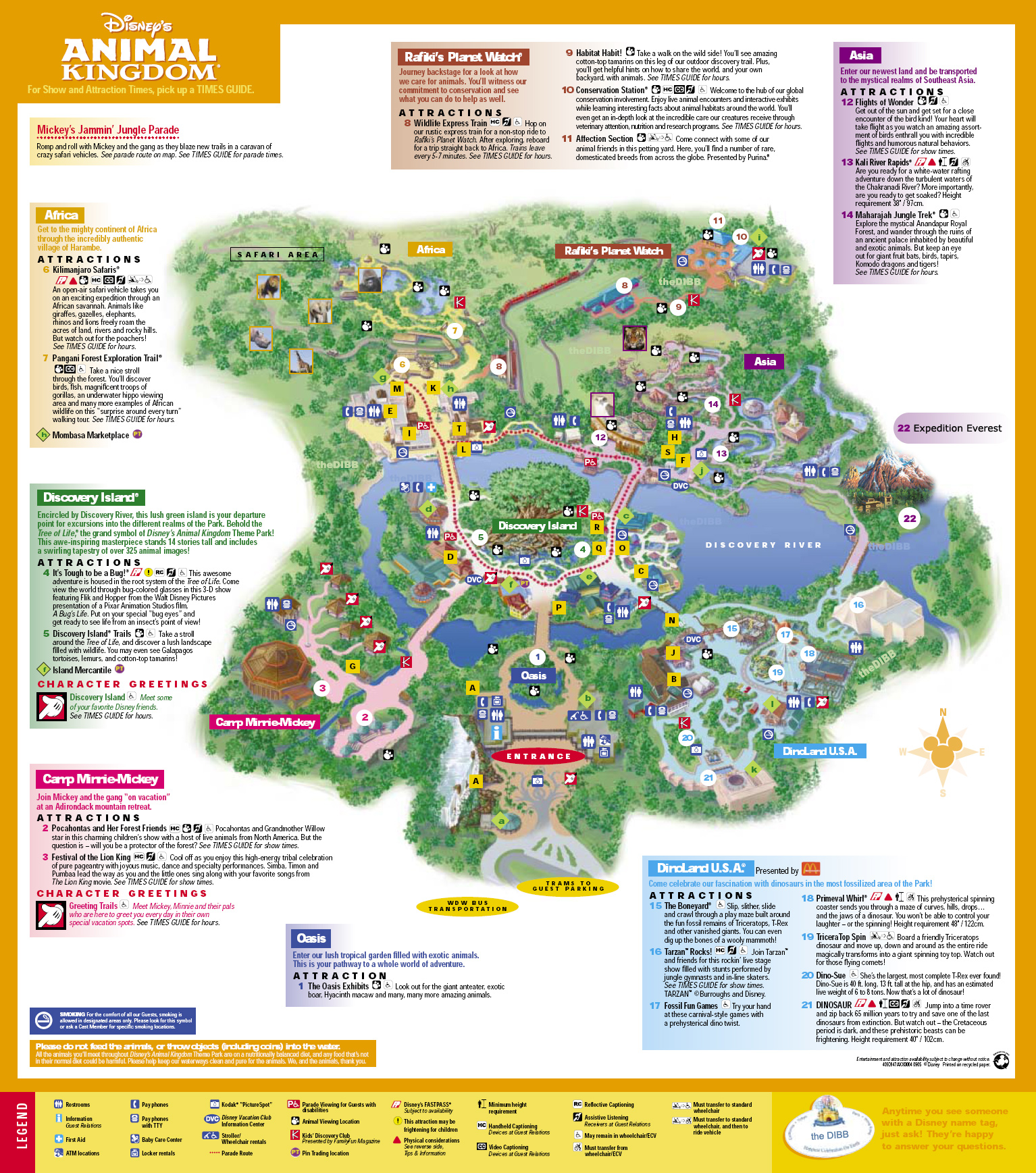 Animal Kingdom Vacation Pictures Disney World Live Suchart ... |Disney Animal Kingdom Map