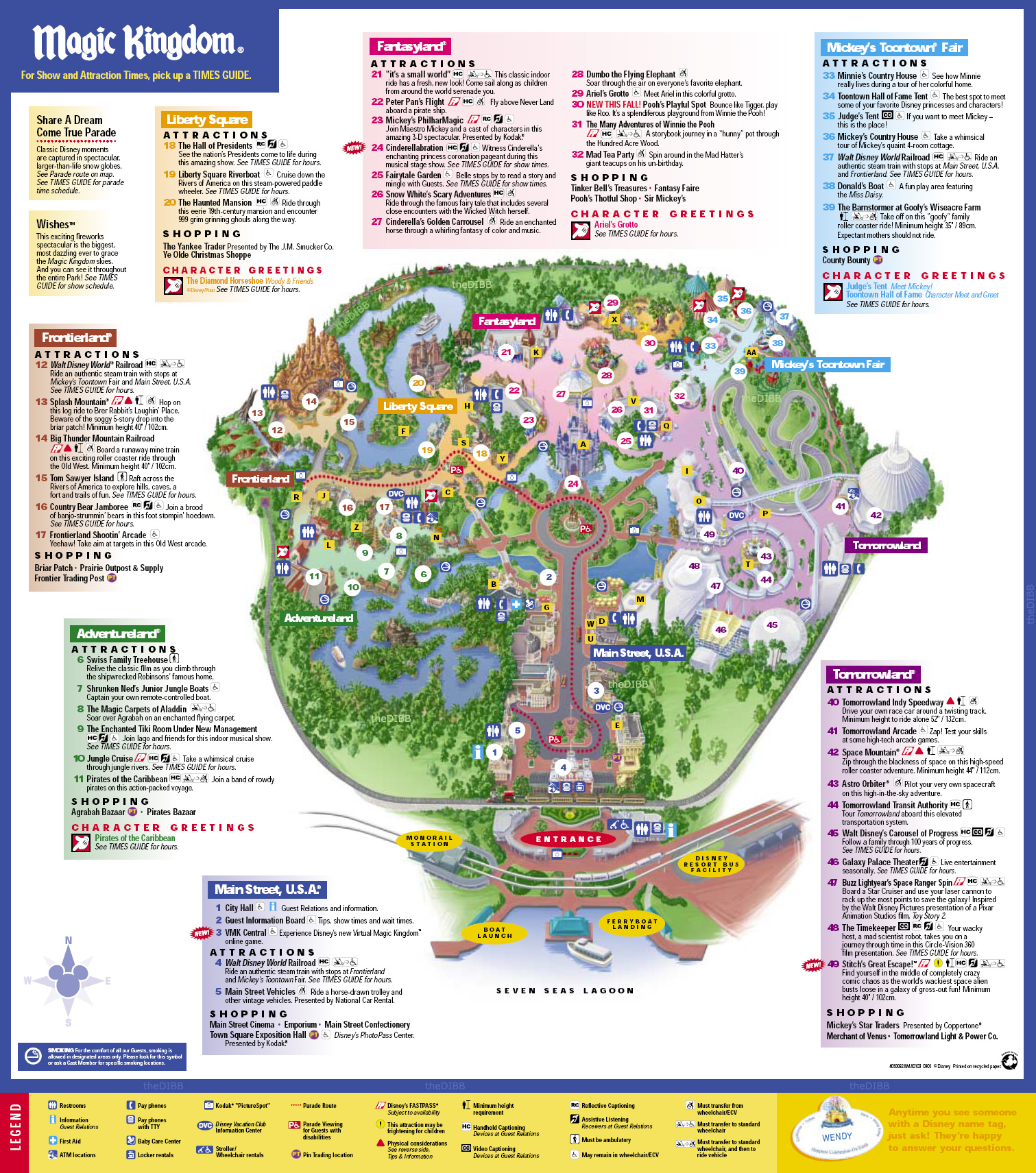 Disneys Magic Kingdom Map - Disney039s Magic Kingdom Orlando FL USA ...