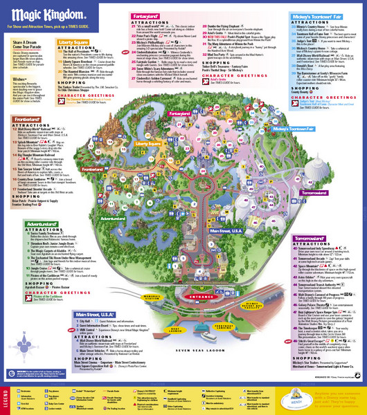 Magic Kingdom Map With New Fantasyland Disney's Magic Kingdom Map