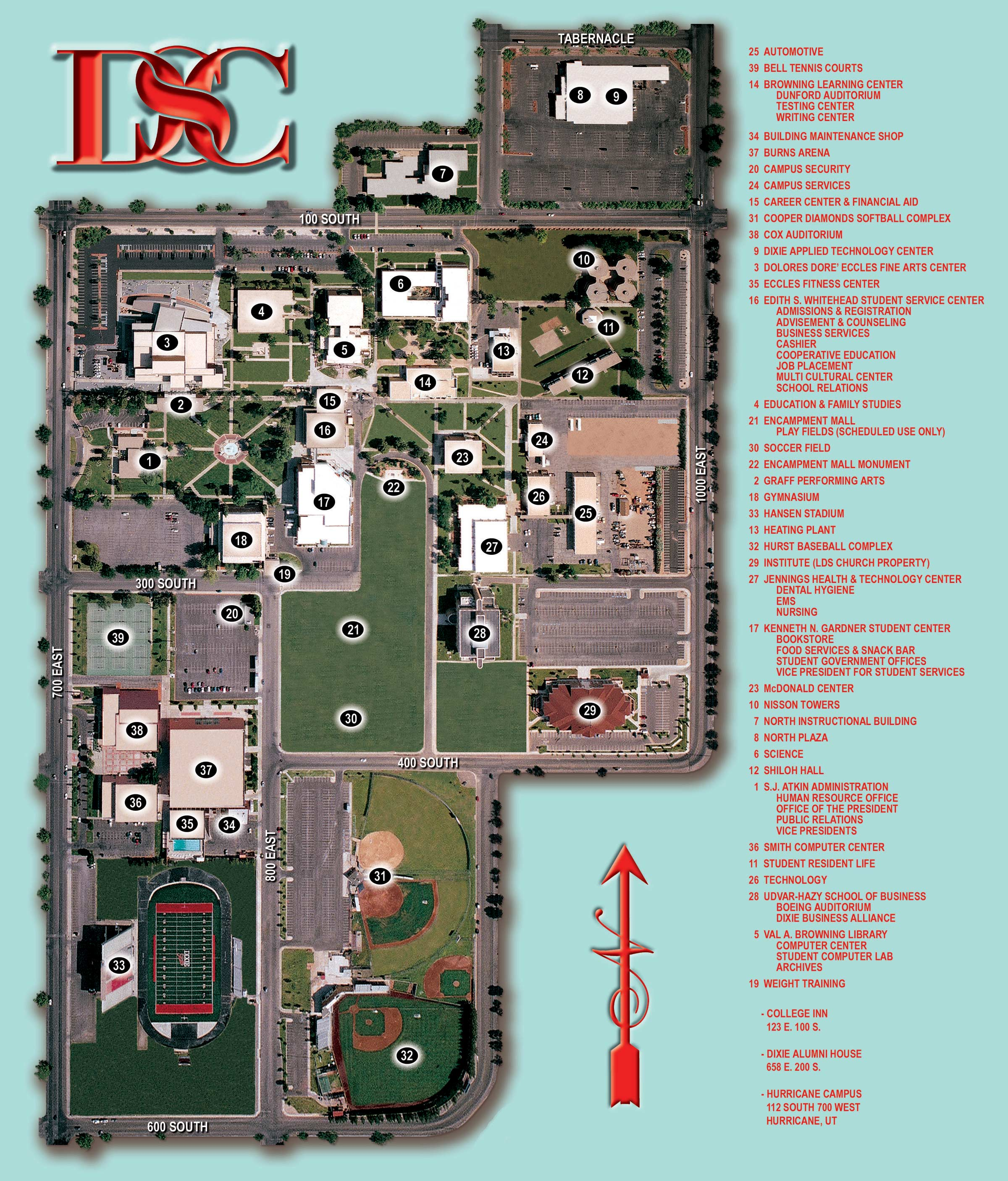 Dixie State College Campus Map Dixie State College Ut Mappery