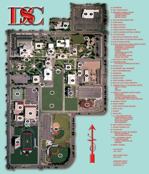 Dixie State College Campus Map