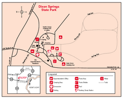 Dixon Springs State Park, Illinois Site Map