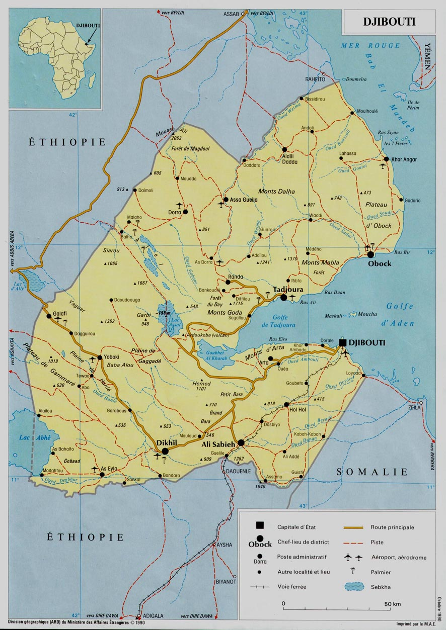 Djibouti On Africa Map.Djibouti Africa Map Djibouti Africa Mappery