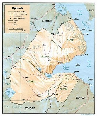 Djibouti Tourist Map