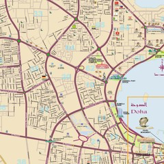 Doha detailed city Map