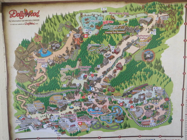 Tennessee maps mappery – Pigeon Forge Tourist Map
