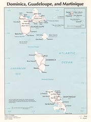 Dominica, Guadeloupe and Martinique Map