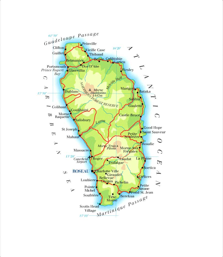 Dominica Map • mappery on fiji map, el salvador map, st. lucia map, grenada map, martinique map, costa rica map, georgia country map, cayman islands, dominican republic, st thomas map, saint lucia, iceland map, malta map, zimbabwe map, the bahamas, americas map, montserrat map, trinidad and tobago, barbados map, turks and caicos islands, maldives map, antigua and barbuda, caribbean map, st. kitts map, haiti map, jamaica map, dominican republic map,