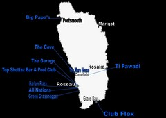 Dominica Nightlife Guide Map