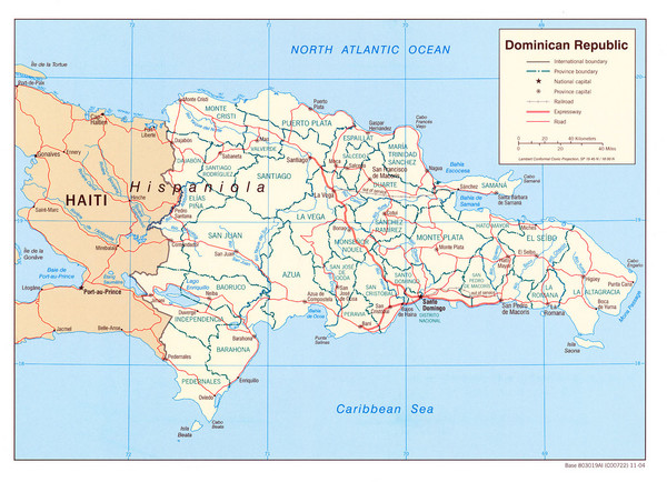Dominican Republic Tourist Map