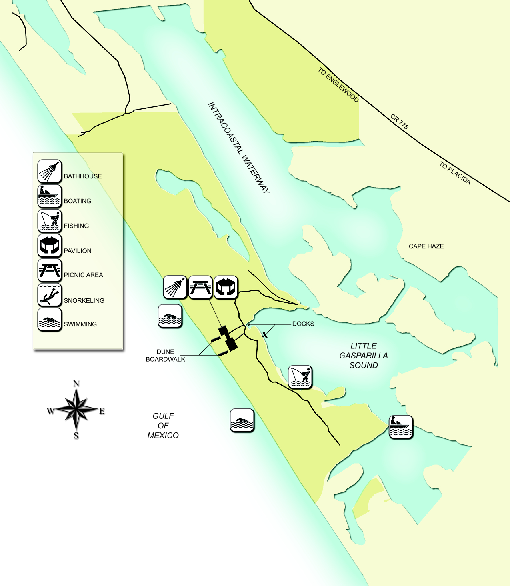 Don Pedro Island State Park Map
