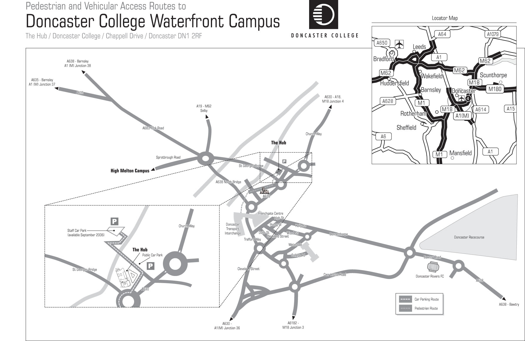 Doncaster College Waterfront Campus Map - Chappell Drive Doncaster ...
