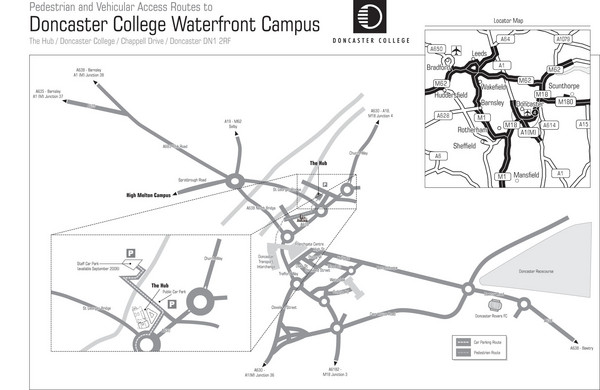 Doncaster College Waterfront Campus Map