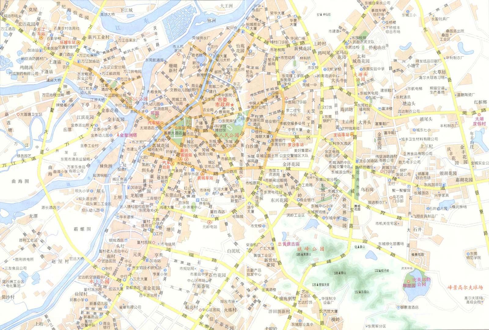 Dongguan China  City new picture : Dongguan China Map