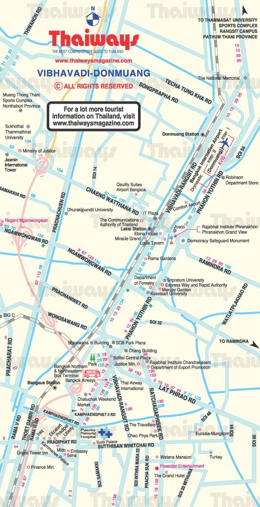 Donmuang Area Bangkok Thailand Map - Bangkok Thailand • mappery