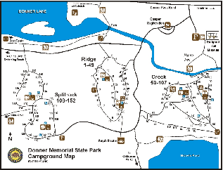 Donner Memorial State Park Campground Map