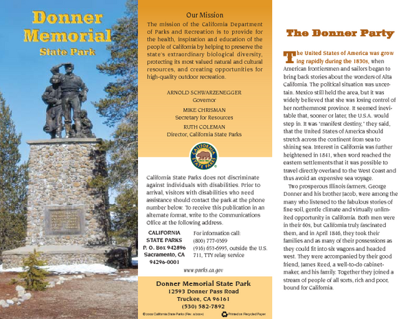 Donner Memorial State Park Map