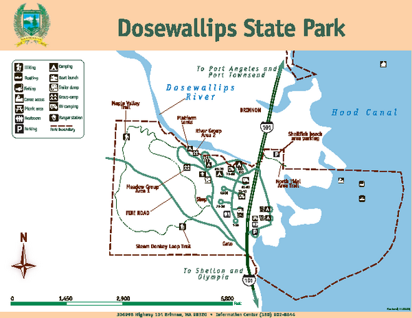 Dosewallips State Park Map
