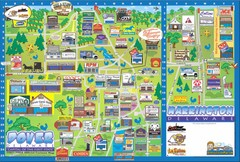 Dover Delaware Cartoon Map