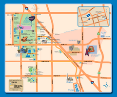 Downtown Anaheim, California Map