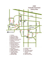 Downtown Asheville Galleria Map