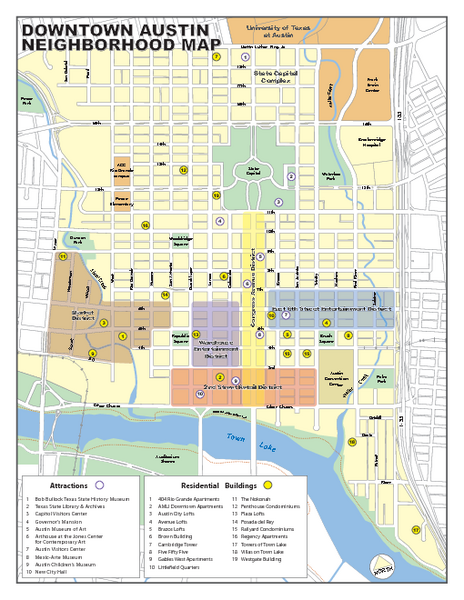 Downtown austin district map austin tx mappery fullsize downtown austin district map sciox Image collections