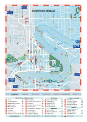 Downtown Brisbane Map