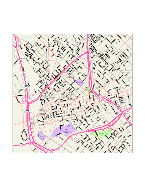 Downtown Dallas Map