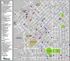 Downtown Denver, Colorado Tourist Map