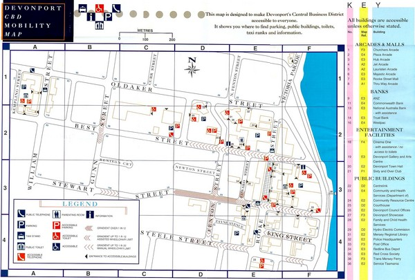 Downtown Devonport Mobility Map