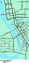 Downtown Eau Claire Eateries Map