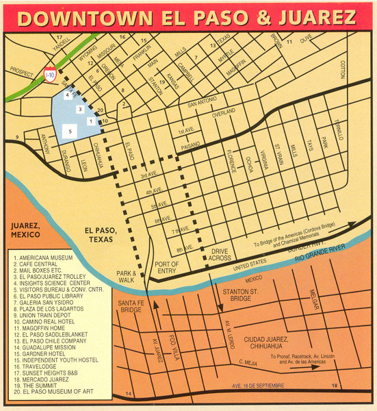Downtown El Paso Map - El Paso Texas • mappery on map of cedar hill tx, map of cleburne tx, map of tyler tx, map of san elizario tx, map of bandera tx, map of el paso county tx, map of commerce tx, map of center tx, map of bend tx, map of canton tx, map of bowie tx, map of broaddus tx, map of crane tx, map of belton tx, map of anthony tx, map of eden tx, map of fort hancock tx, map of clarendon tx, map of bastrop tx, map of claude tx,