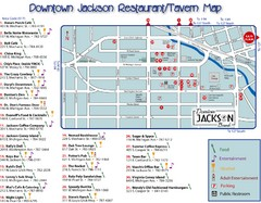 Downtown Jackson Restaurant Map